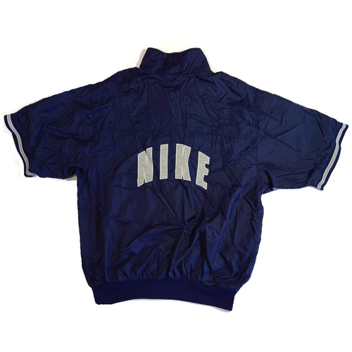 Retro Nike Vintage Blue Short Sleeve Windbreaker
