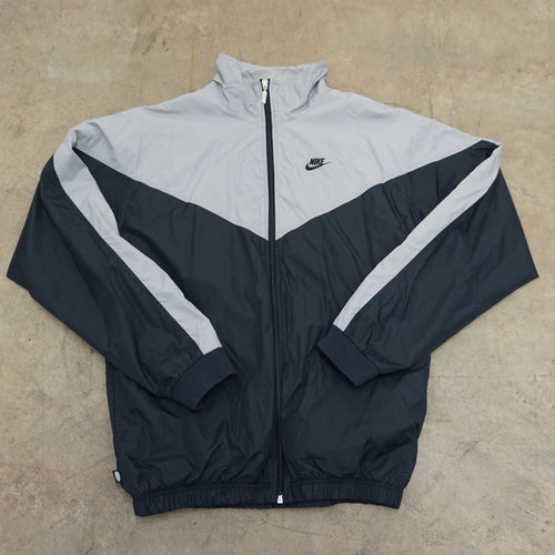 Vintage Grey and Black Windbreaker