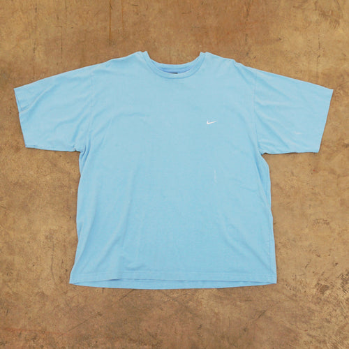 Nike Baby Blue Embroidered Swoosh Tshirt