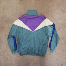 Load image into Gallery viewer, Vintage Purple, Mint, White and blue windbreaker