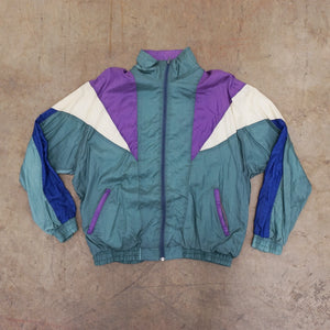 Vintage Purple, Mint, White and blue windbreaker
