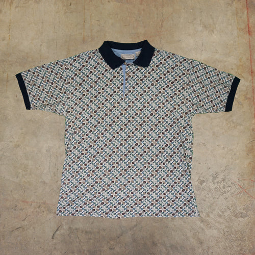 Natural Issue Board Pattern Polo