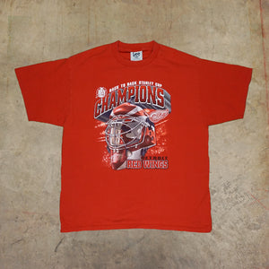 1998 LEE Detroit Red Wings Back to Back Champs Tshirt