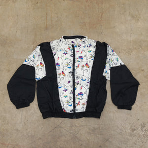 Flower pattern Vintage Windbreaker
