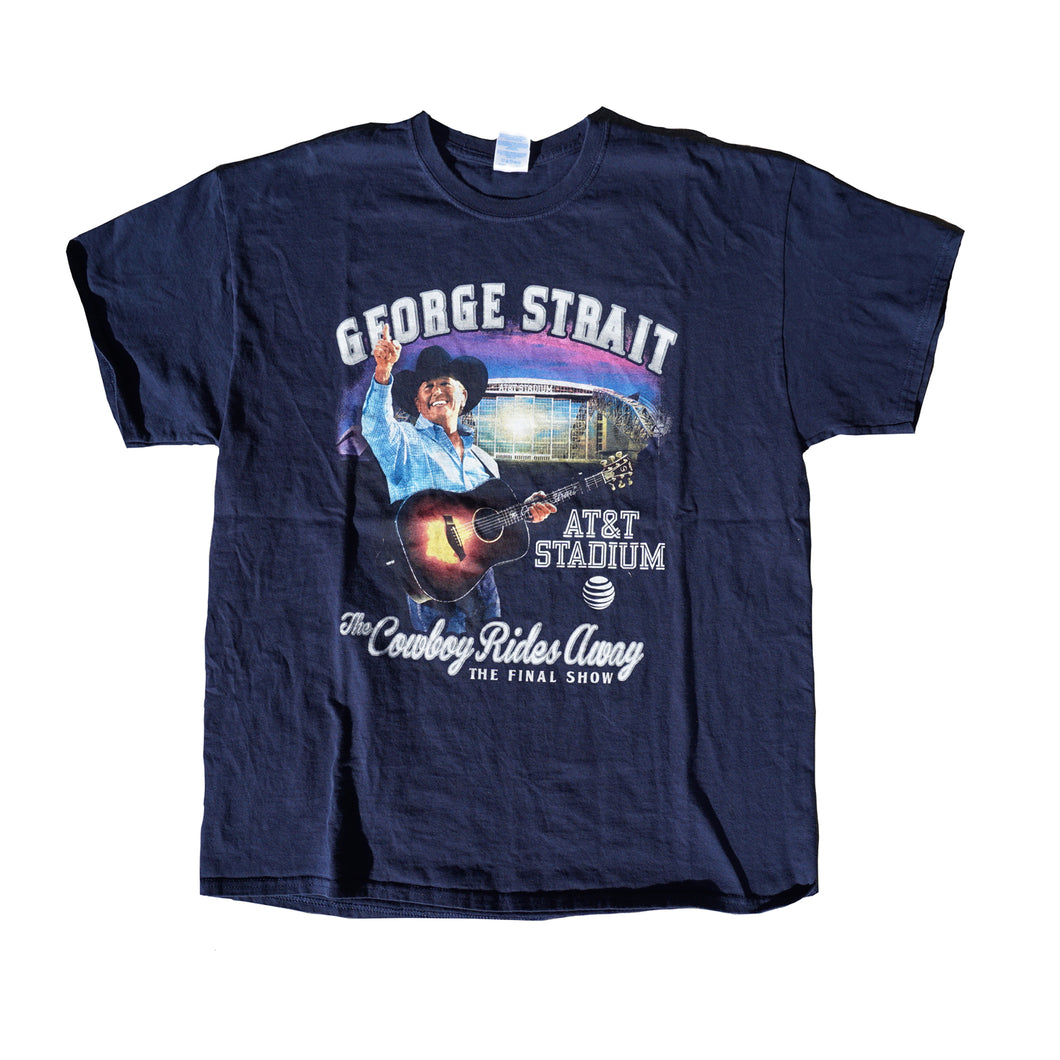 George Strait The Cowboy Walks away Concert Tshirt