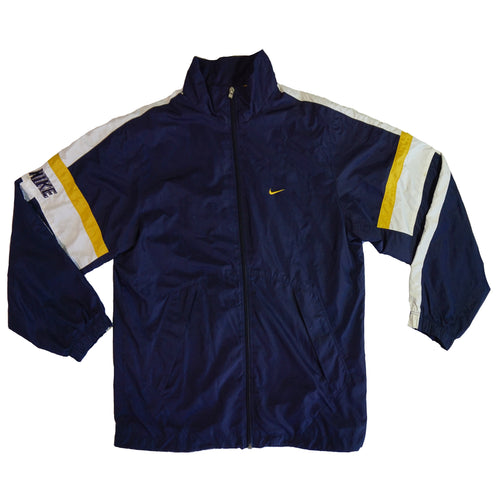 Vintage Nike Navy and Gold Windbreaker