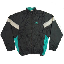 Load image into Gallery viewer, Retro Nike Turquoise and Black Colorblock Windbreaker
