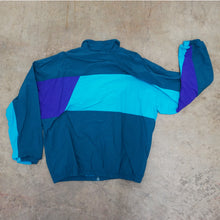 Load image into Gallery viewer, Green, Turquoise, Purple Colorblock windbreaker