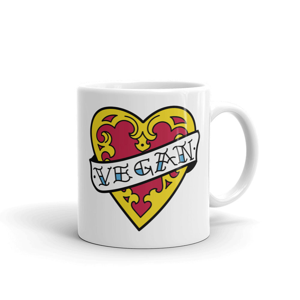 Old School Heart Mug