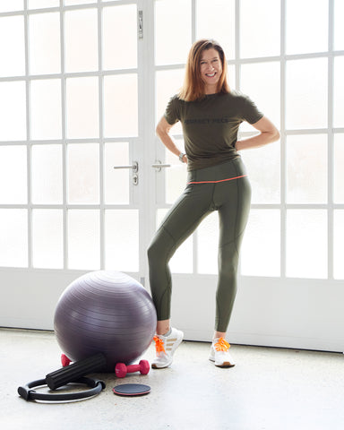 Melinda O'Rourke in MORE BODY pilates eco-friendly activewear