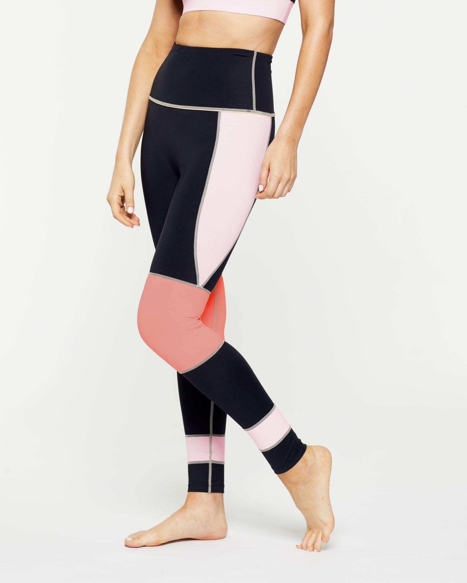 Warrior GRACILIS FULL LENGTH high waist legging with CONTRAST PANELS, SIDE VIEW