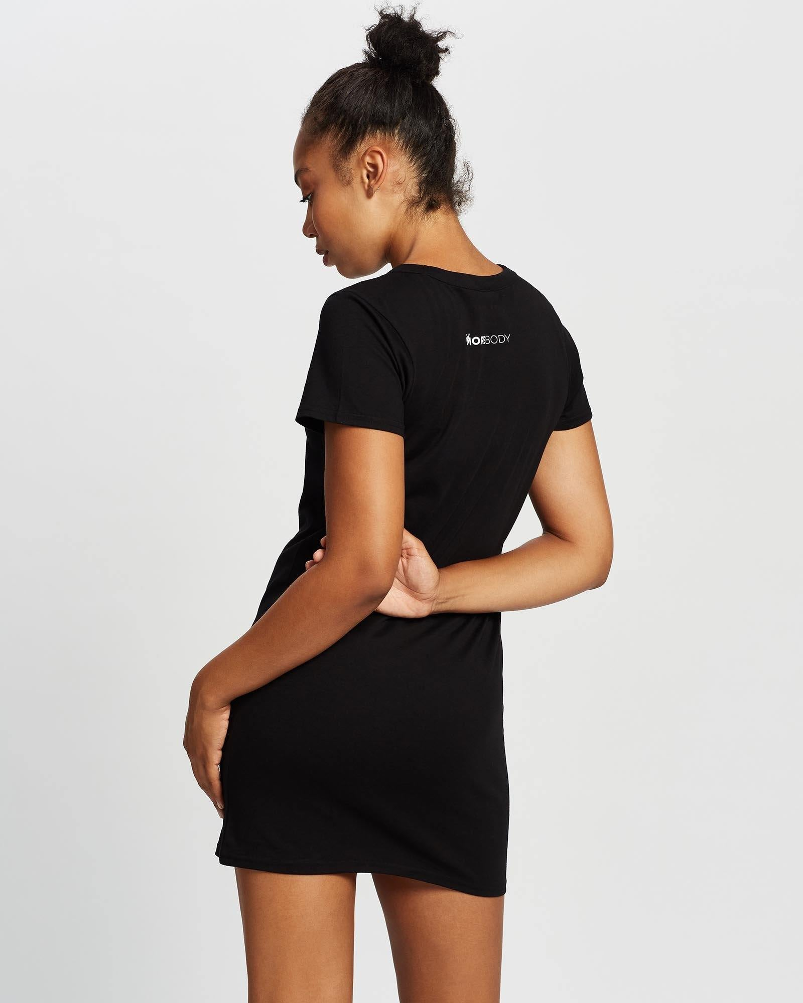 Companion Latissimus Black T-Shirt Dress - More Body