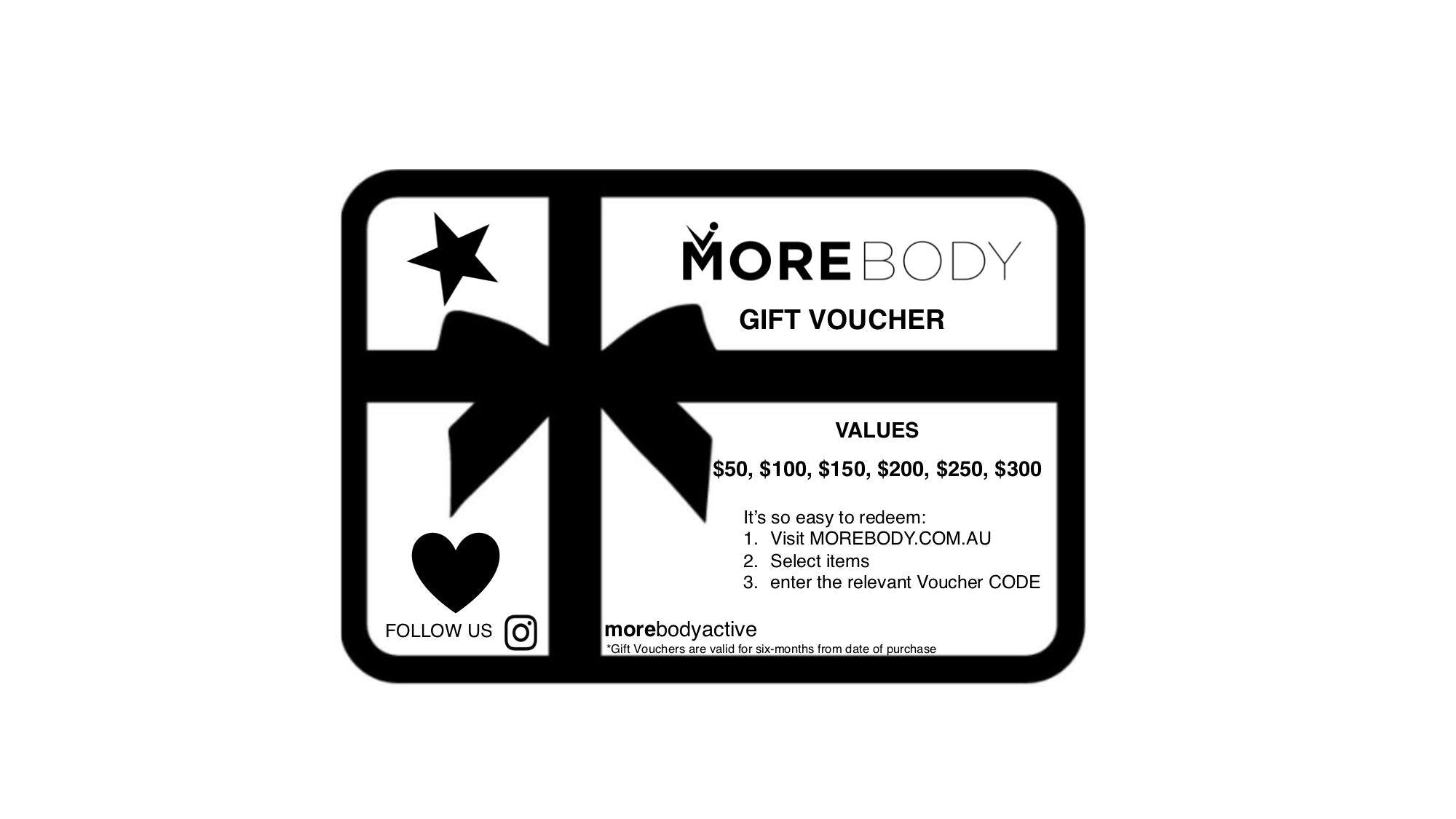 GIFT CARDS - More Body