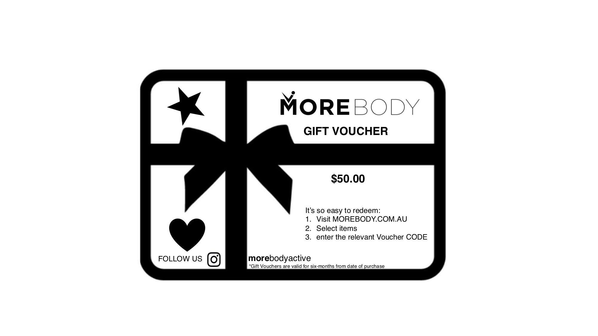 Gift Voucher $50.00 - More Body