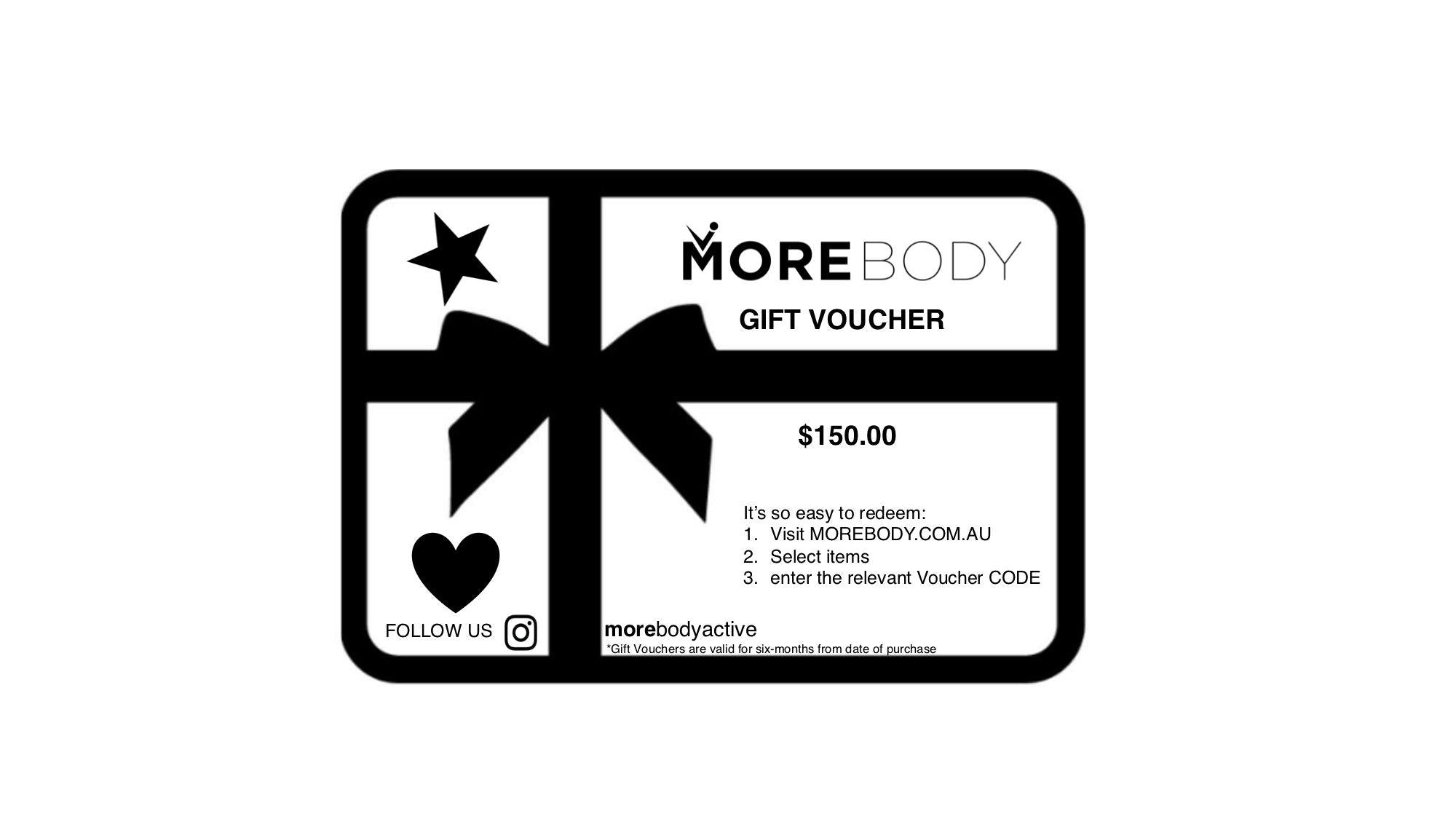 Gift Voucher $150.00 - More Body