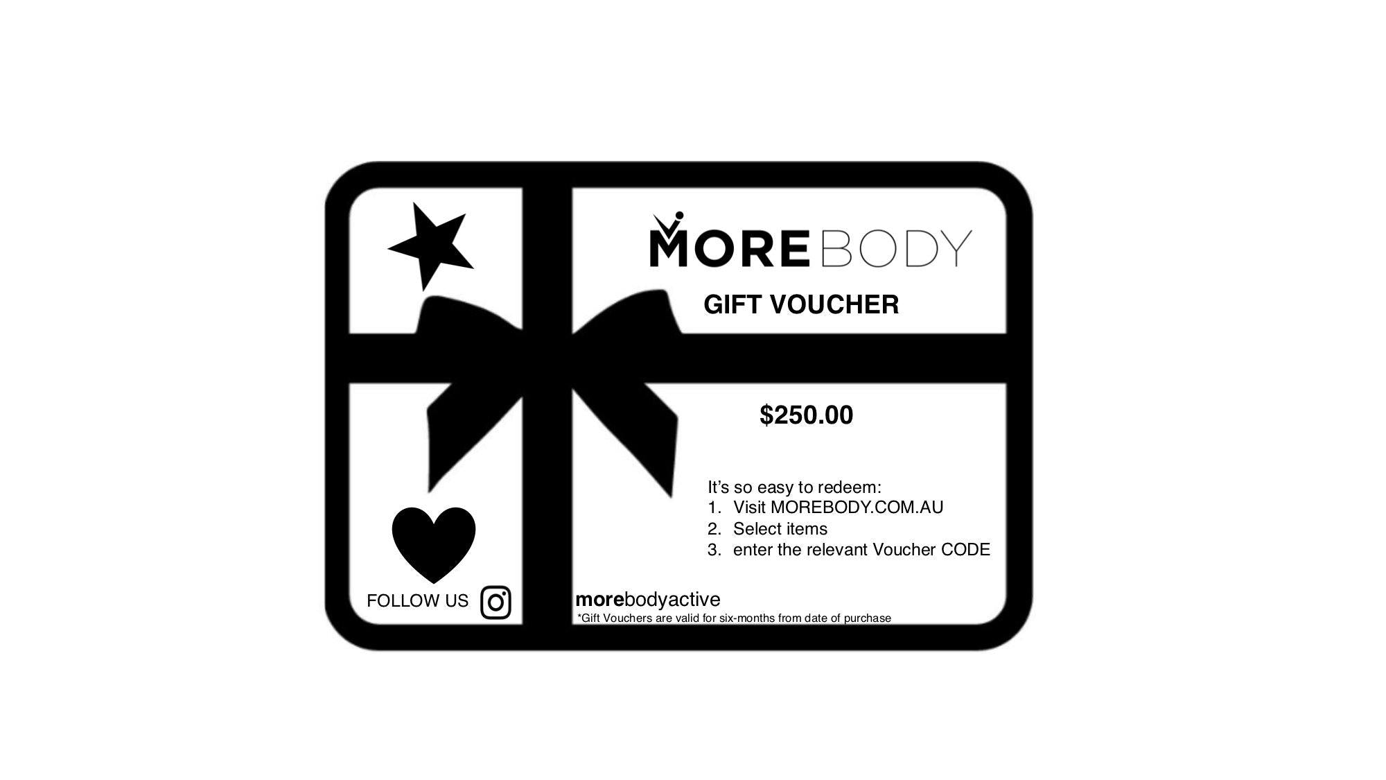 Gift Voucher $250.00 - More Body