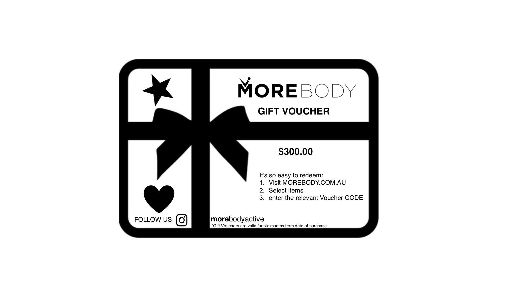 Gift Voucher $300.00 - More Body