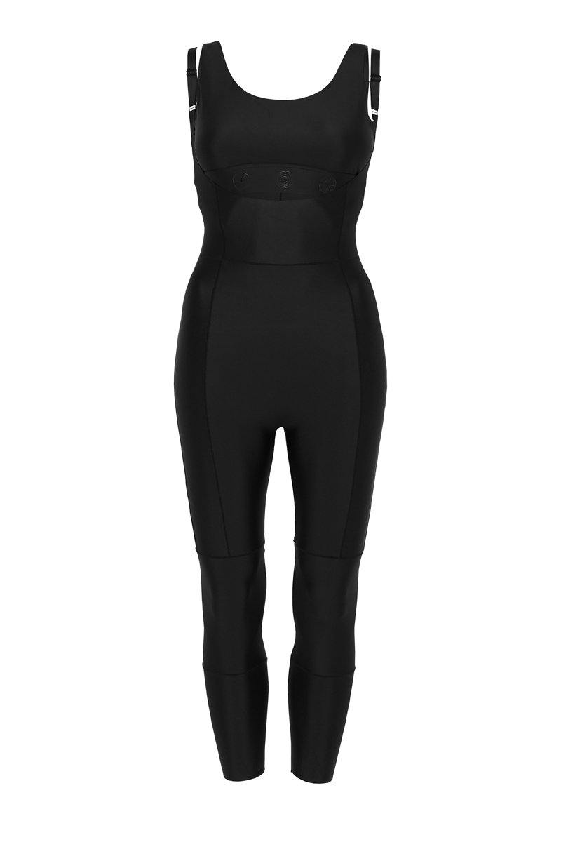 Companion TRANSVERSE full 7/8 BODYSUIT, Bonded worn low front with Pectoralis active top, high back, front view