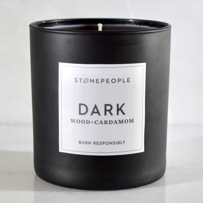 DARK: Wood + Cardamom Candle