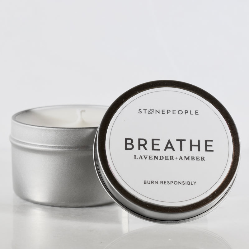 BREATHE: Lavender + Amber Candle