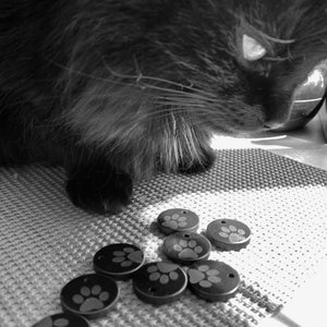 shungite dog charm tag puppy face