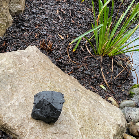 shungite in garden