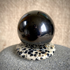 Dalmatian Jasper Pendant w/Genuine Shungite Sphere, Multifunction Set