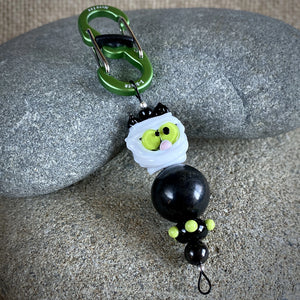 Shungite & Cat Mummy Halloween Clip-on, Fun EMF Protection