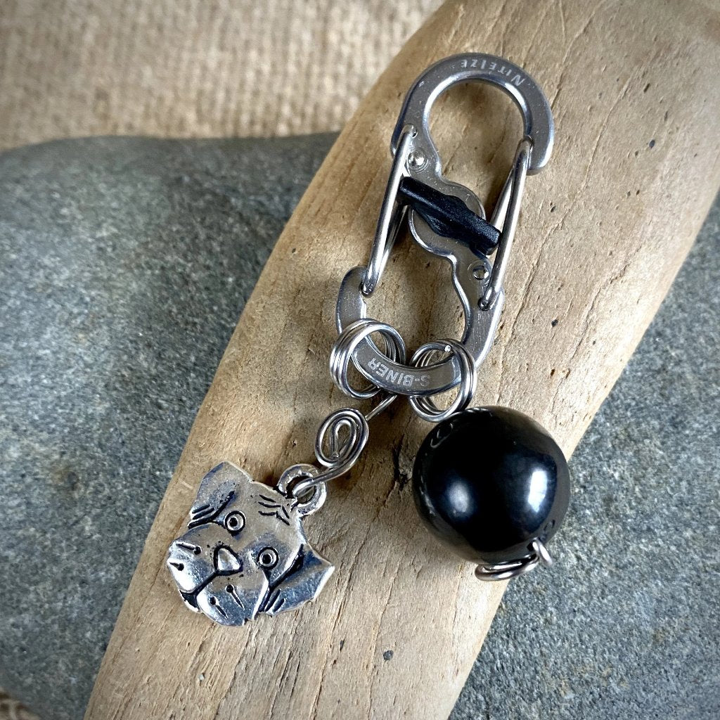 EMF Protective Dog Pendant, Shungite for Dogs, Puppy Face Charm - Shungite Queen