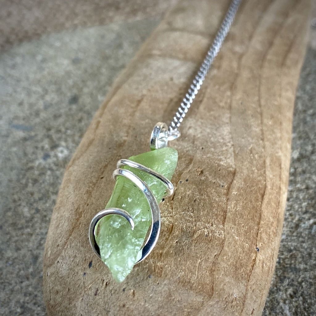 Peridot Pendulum w/Shungite & Peridot Beads on Titanium Chain - Shungite Queen