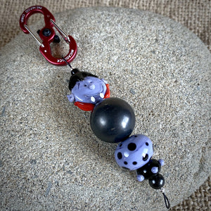 Shungite & Vampire Halloween Clip-on, Fun and Functional