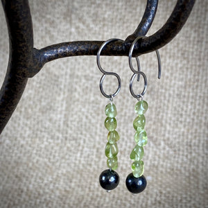Shungite and Peridot Earrings to Brighten Up the Holidays