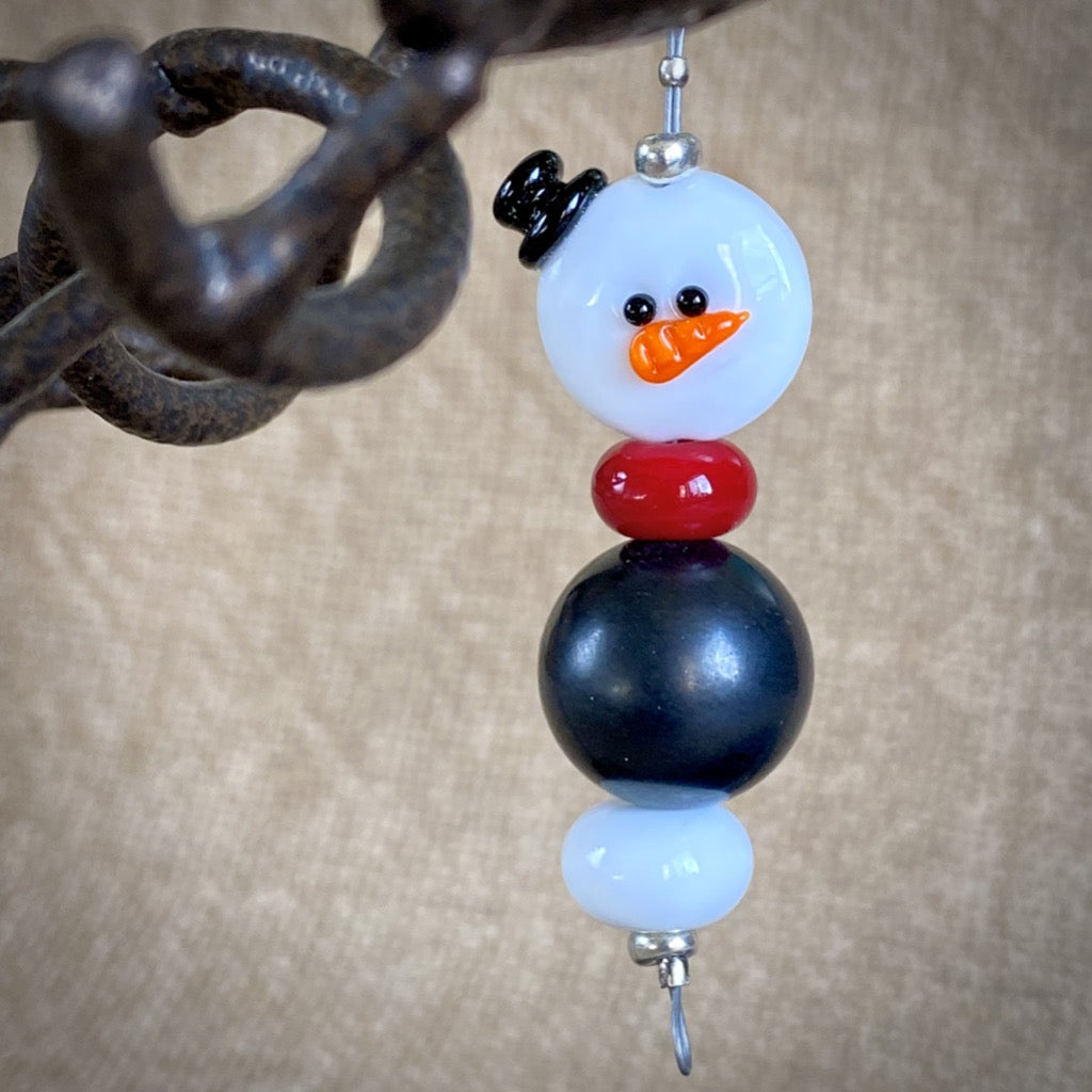Avant Garde Shungite Snowman Ornament 2, EMF Protective Holiday Decor