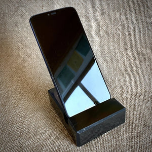 EMF Protective Cell Phone Stand, Genuine Black Shungite from Russia