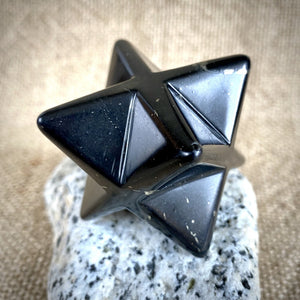 Shungite Merkaba, 40mm, EMF Protection, Hand Carved, Protection from EMFs