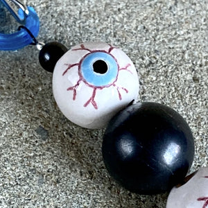 Shungite & Creepy Eyeball Halloween Clip-on, Fun EMF Protection - Shungite Queen