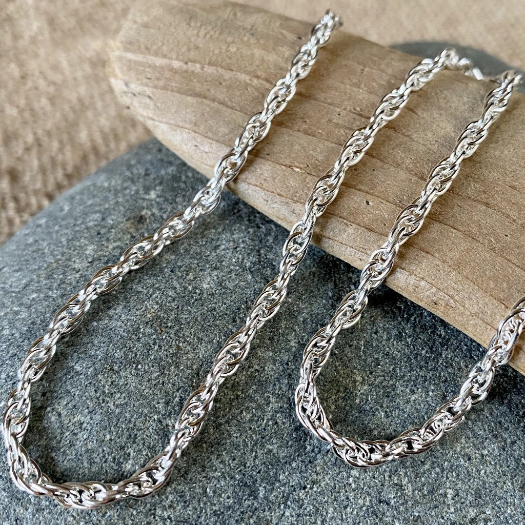 Sterling Silver Double Rope Chain w/Sterling Silver Mag-Lok Clasp - Shungite Queen