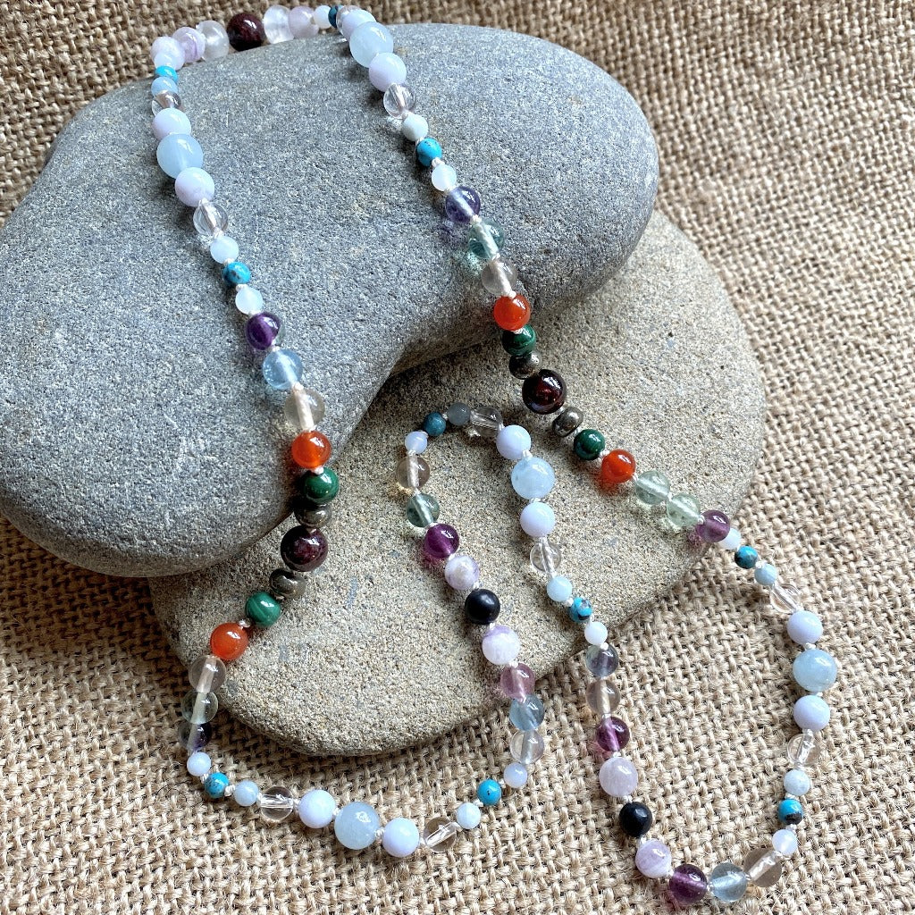 Immune Support Necklace, 13 Gemstones for Colds, Flu & Other Pathogens