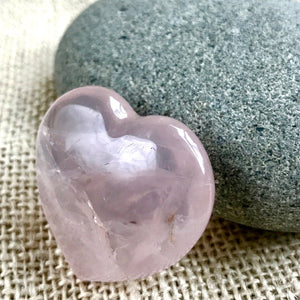Tumbled Shungite Stones w/ Rose Quartz Heart In Custom Wood Dish, EMF