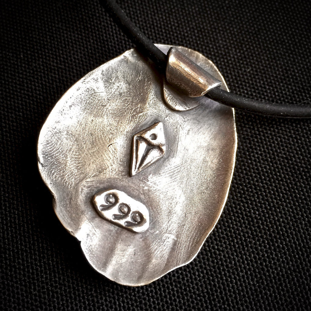 """Forest for the Trees"" Tapping Pendant, EFT, Fine Silver, Emotional Freedom Techniques - Shungite Queen"