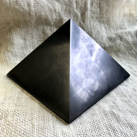 Genuine Shungite Pyramid, Huge, 6 Inch Base (150mm), EMF Protection