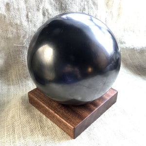 Shungite Sphere, Huge, 150mm/6 Inches, EMF Protection - Shungite Queen