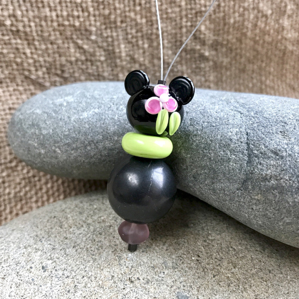 Minnie Mouse Shungite Dangle, Shungite, EMF Protective, Accessory - Shungite Queen
