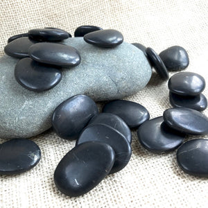 Smooth Polished Shungite Pocket Stone, Carry Stone, EMF Protection