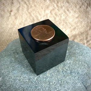 Shungite Cube, 30mm, EMF Protection, Genuine Russian Shungite