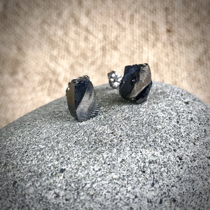 Elite Shungite Post Earrings w/Pure Titanium Posts, EMF Protection