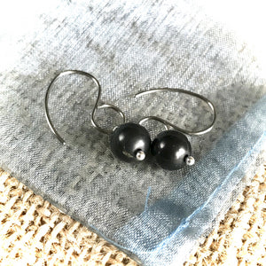 Essential Shungite Earrings, Pure Titanium Ear Wires, EMF Protection
