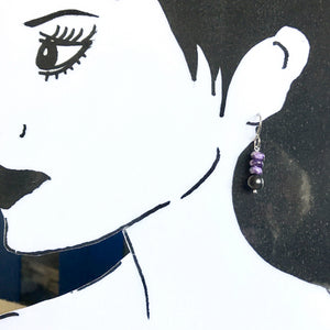Charoite & Shungite Earrings, EMF Protection, Courage, Transformation