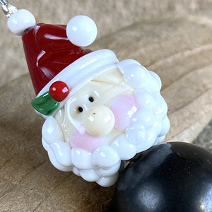 Shungite Santa Ornament, EMF Protective Holiday Decor, Christmas - Shungite Queen