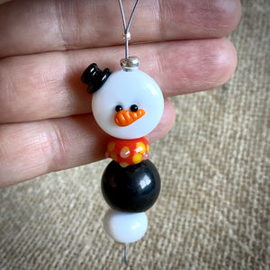 Avant Garde Shungite Snowman Ornament, EMF Protective Holiday Decor